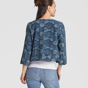 Eileen Fisher Organic Cotton Indigo Jacket Blazer